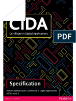CIDA Specification of Certificate in Digital Applications