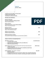 alexa haugan program assistant resume