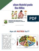 Lembar-balik Nutrisi Ibu Nifas