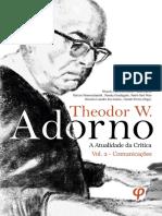 Theodor Adorno - A atualidade da crítica