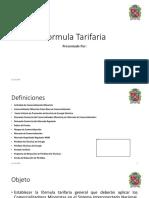 Formula Tarifaria (Exposición 1)