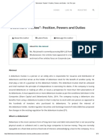 """Debenture Trustee""- Position, Powers and Duties - It is the Law"