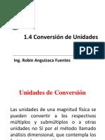 1.4 Conversión de Unidades