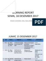 Morning Report 18 Des 2017
