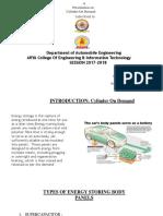 Seminar Presentation on Energy Storing Body Panels