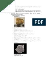 Mineral Utama, Sekunder, Dan Tambahan