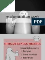 Mitigasi Gunung meletus ppt
