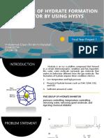 FYP1 Presentation hydrate formation