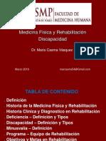 SEMANA 1Clase de Discapacidad - Generalidades 2018 USMP