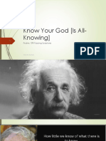 Know Your God is All-Knowing- Walter Brian Rochester