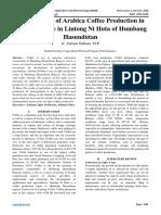 Identification of Arabica Coffee Production in Altitudes Place in Lintong Ni Huta of Humbang Hasundutan