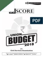 Union Budget 2018 UPSC
