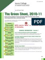 Green Sheet 2010