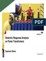 Die Electric Response analysis on Transform to Detect Moisture