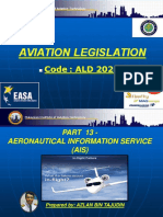 Aviation Legislation - Part 13 (Aeronautical Information Service)