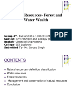 Natural Resources- Water and Forest Wealth