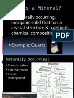 Minerals Ppt