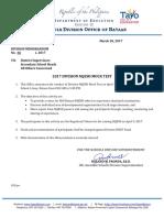 Division Memorandum No. 66 s. 2017