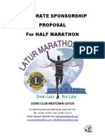 Corporate Sponsorship Proposal for Half Marathon