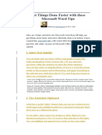 Get Things Done Faster With These Microsoft Word Tips