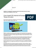 Cara Install OS Android di Komputer Tanpa Emulator – RSInews