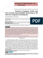 Relationship Between Company Profit and Size Towards Sustainability Reporting in Oil and Gas Companies