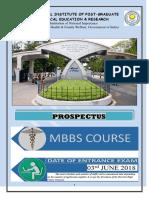 MBBS Prospectus 2018