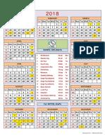 KMRCL - Calendar 2018