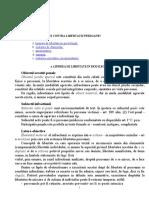 b. i. 3 - Infractiuni Contra Libertatii Persoanei