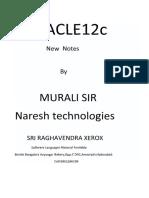 Murali Sir New Oracle12 c