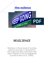 2015 Resilience Strategies Essay
