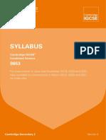 Sylabus Biology Cambridge