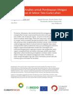 Tiga Perangkat Analisis Untuk Pembiayaan Mitigasi Dan Adaptasi Di Sektor Tata Guna Lahan – Ringkasan Eksekutif