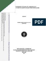 Kajian Kemitraan Pada PT Agrowiyana Jambi