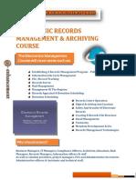 EDRM Fundamentals-Course Outline