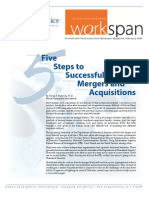 Five Steps to Successful Mergers