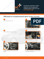 Comment remplacer l'arbre inférieur de la suspension indépendante avant sur une FIAT PUNTO 188