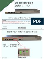 SG720 Configuration