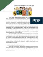Peran Sekolah Dalam Pendidikan Karakter Anak