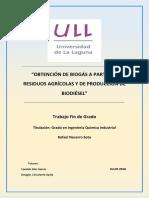 Obtencion de Biogas a Partir de Residuos Agricolas y de Producci