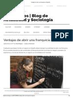 Ventajas de Abrir Una Franquicia en España