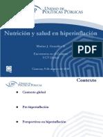 Nutrición y Salud en Hiperinflación - Marino J González