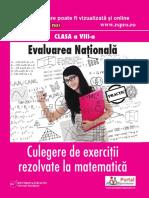 Culegere Clasa AVIIIa Matematica