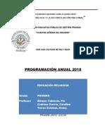 Programacion Anual 2018 Primero