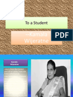 To a Student ppt by gokul