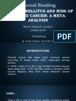 Diabetes Mellitus and Risk of Thyroid Cancer a Meta Analysis