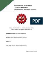 Perfil Longitudinal y Secciones Transversales