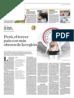 Perú, El Tercer País Con Más Obesos de La Región