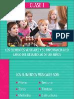 Los elementos musicales y su importancia a lo largo del desarrollo de los niños