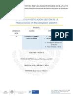 Reporte de Investigación en Maquinados Marin